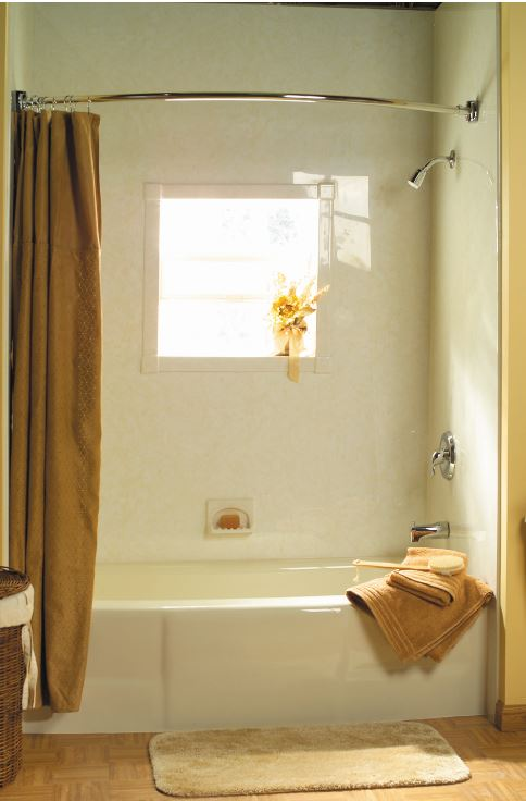 Cresent Shower Rod and Window