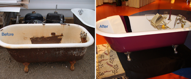 Use our services to Restore your Traditional Claw Foot Bathtub to its Former Glory